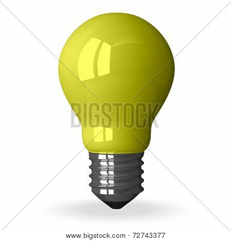 Yellow Tungsten Light Bulb Standing