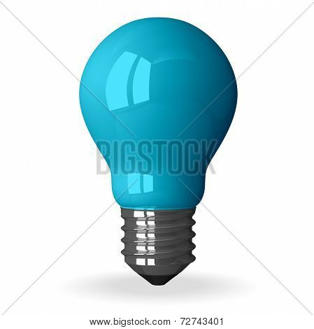 Blue Tungsten Light Bulb Standing