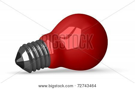 Red Tungsten Light Bulb Lying