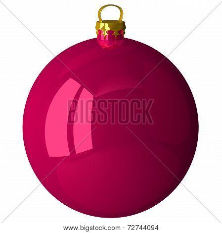 pink Christmas Ball Isolated
