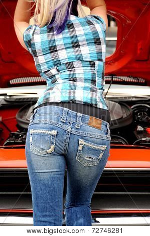 Sexy female mechanic.