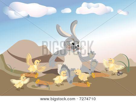 Chicken To Visit Rabbit.eps