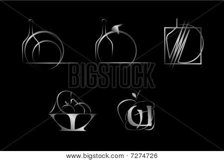 Set of corporate vector logo templates.
