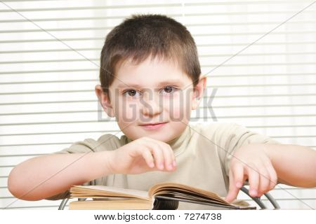 Positive Boy With Book