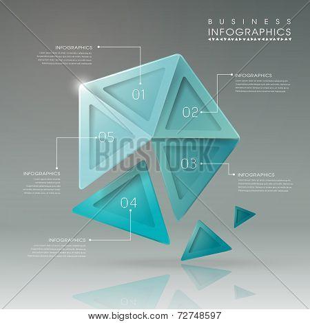 Abstract Translucent Geometric Pentagon