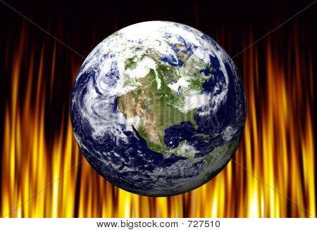 Erde auf Feuer
