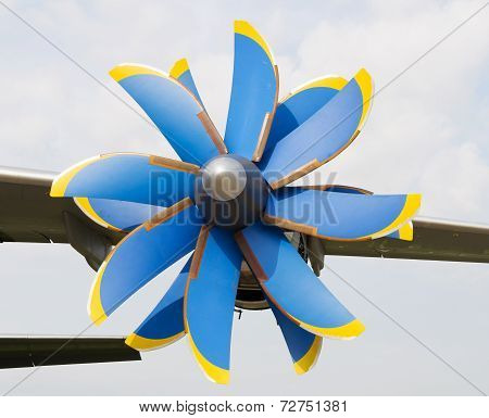 Propeller turboprop aircraft