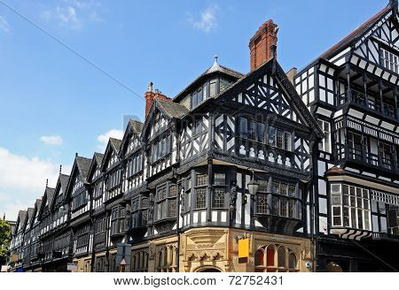 Tudor buildings in city centre, Chester.