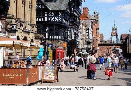 View along Eastgate, Chester.