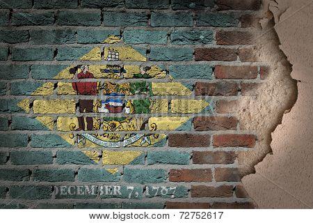 Dark Brick Wall With Plaster - Delaware