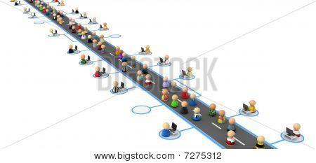 Cartoon Crowd, Information Highway