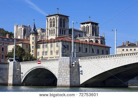 View Of Lyon And Bridge