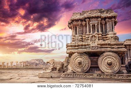 Stone Chariot In Hampi