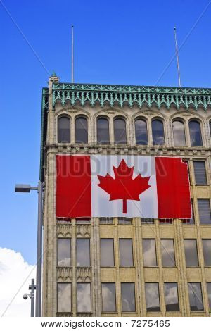 Building Exterior With Canadian Flag