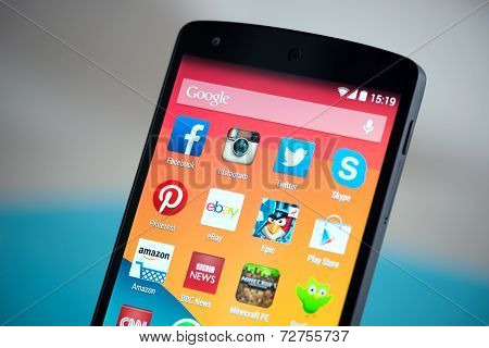 Mobile Apps On Google Nexus 5