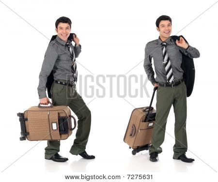 Asian Businessman Traveler