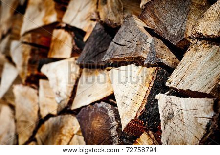 Stack Of Chopped Fire Wood