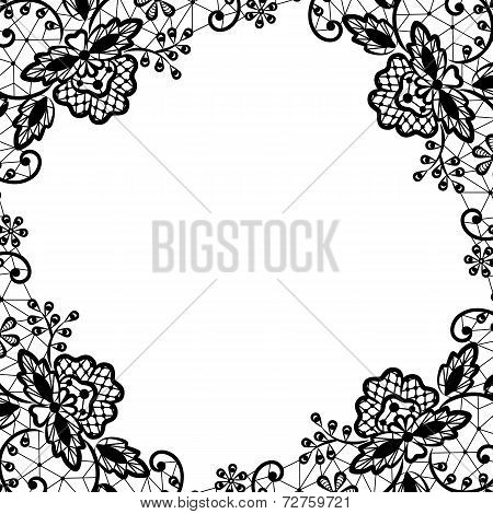 lace frame on white background
