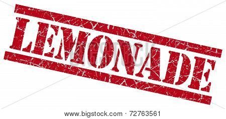 Lemonade Red Grungy Stamp On White Background
