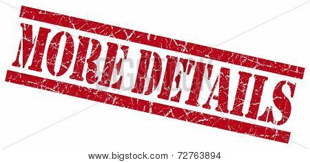 More Details Red Grungy Stamp On White Background