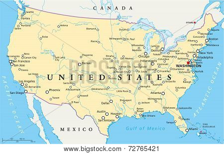 United States of America Political Map