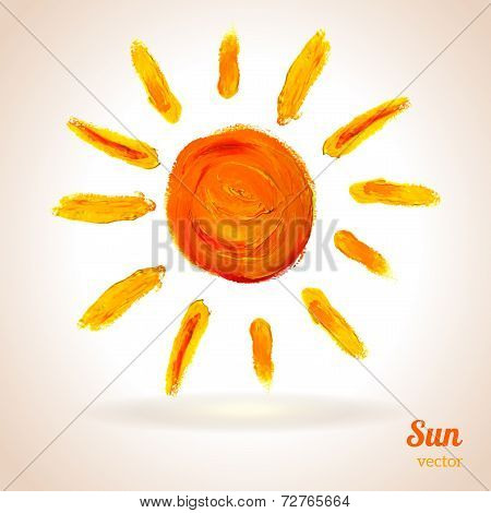 Sun. Vector illustration.