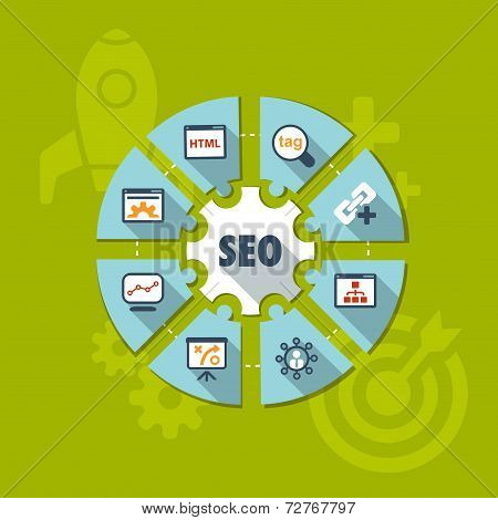 Seo Infographics Background