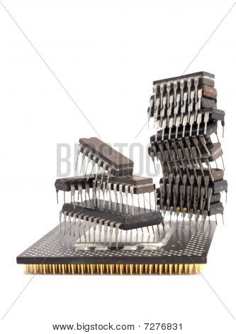 Group of microcircuit chips