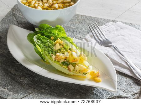 Romaine Lettuce Hearts With Mango Apple Vinaigrette