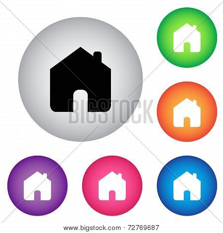 Home Button Icon Set
