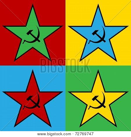 Pop Art Communist Star