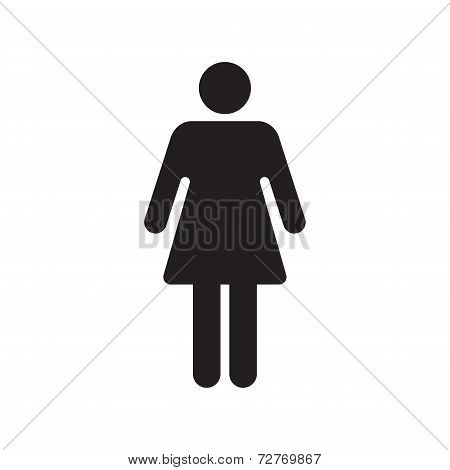 Woman Sign On White Background