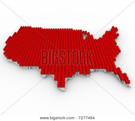 Houses Covering Usa Map