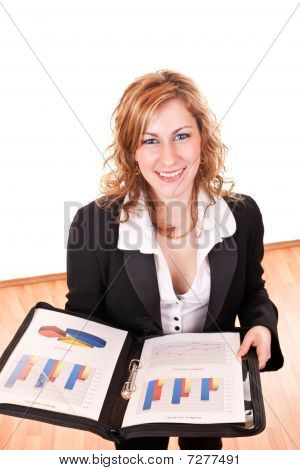 Smiling Businesswoman With Documents