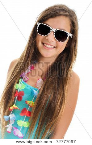Teanager Girl With Sunglasses