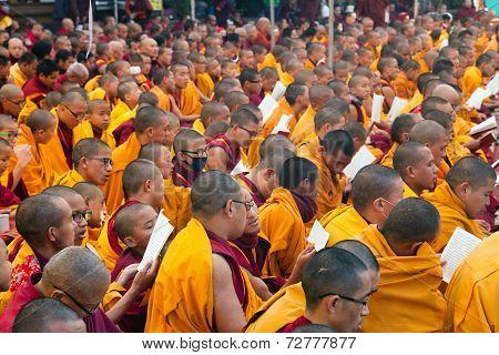 Meditation Of Tibetan Buddhist Monks