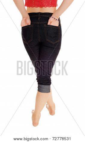 Woman Holding Her Butt.