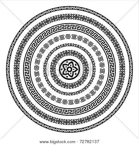 Oriental arabesque pattern background