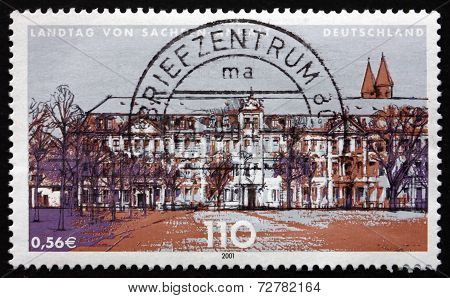 Postage Stamp Germany 2001 State Parliament Of Saxony-anhalt