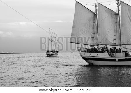 two sail boats