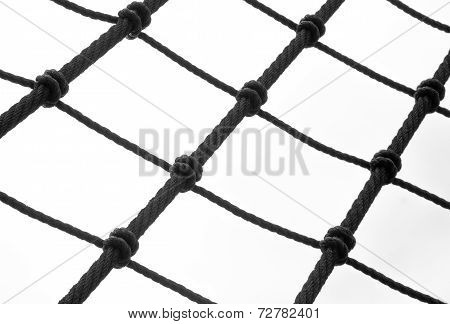 Fragment of a rope ladder on a classic sail ship