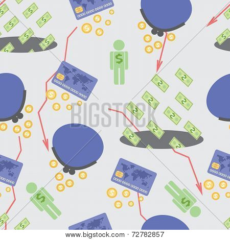 Seamless Pattern Low Salary