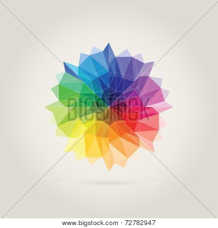 Color Wheel Polygon