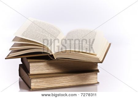 open book reflective stack