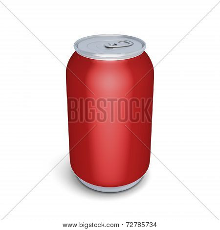 Red Aluminum Can For Soda