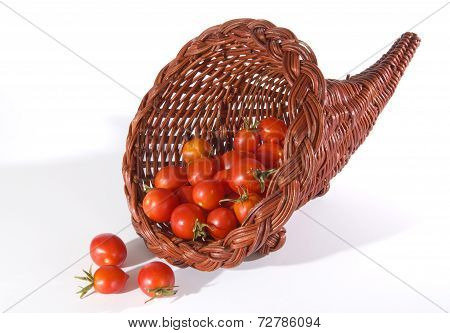 Cornucopia Of Fresh Cherry Tomatoes
