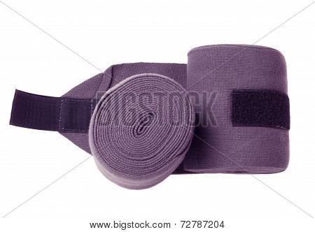 Horse New  Purple Knitwear Bandages Isolated On White