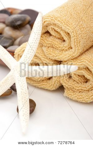 Spa Towels with starfish