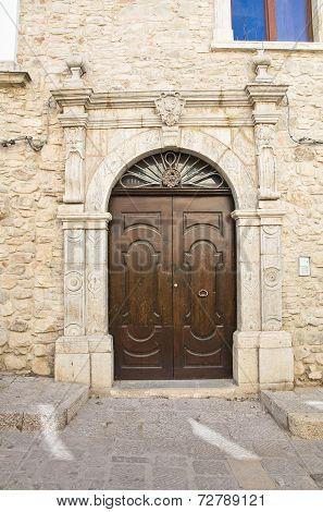 Historical palace. Cancellara. Basilicata. Italy.