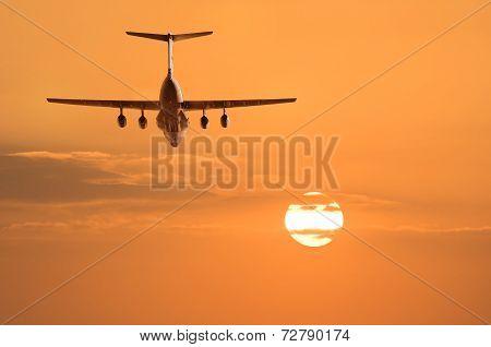 Flight of the cargo plane.